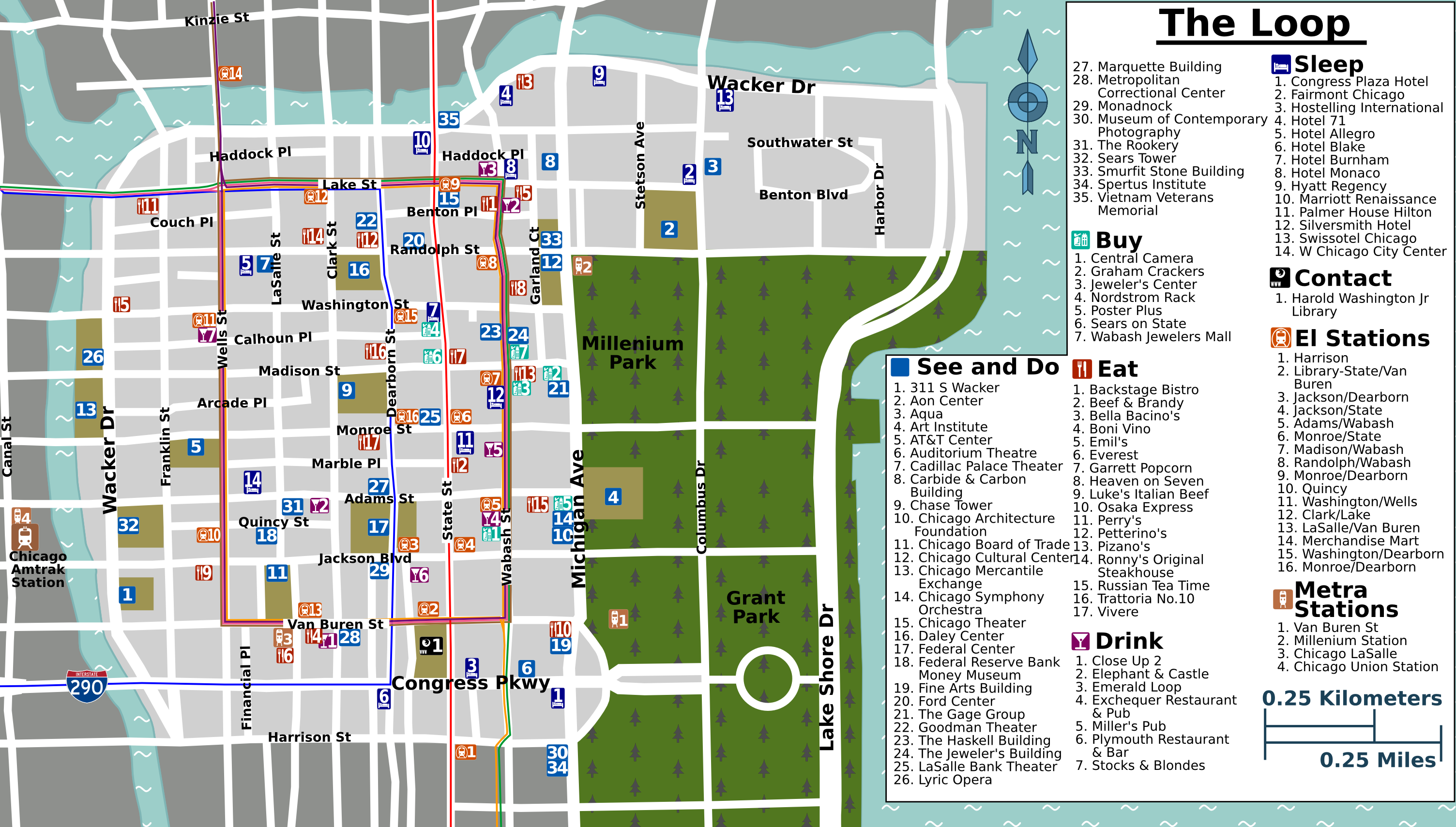 Chicago Cta Map With Streets